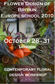 Innovation through design, London contemporary flower design workshop